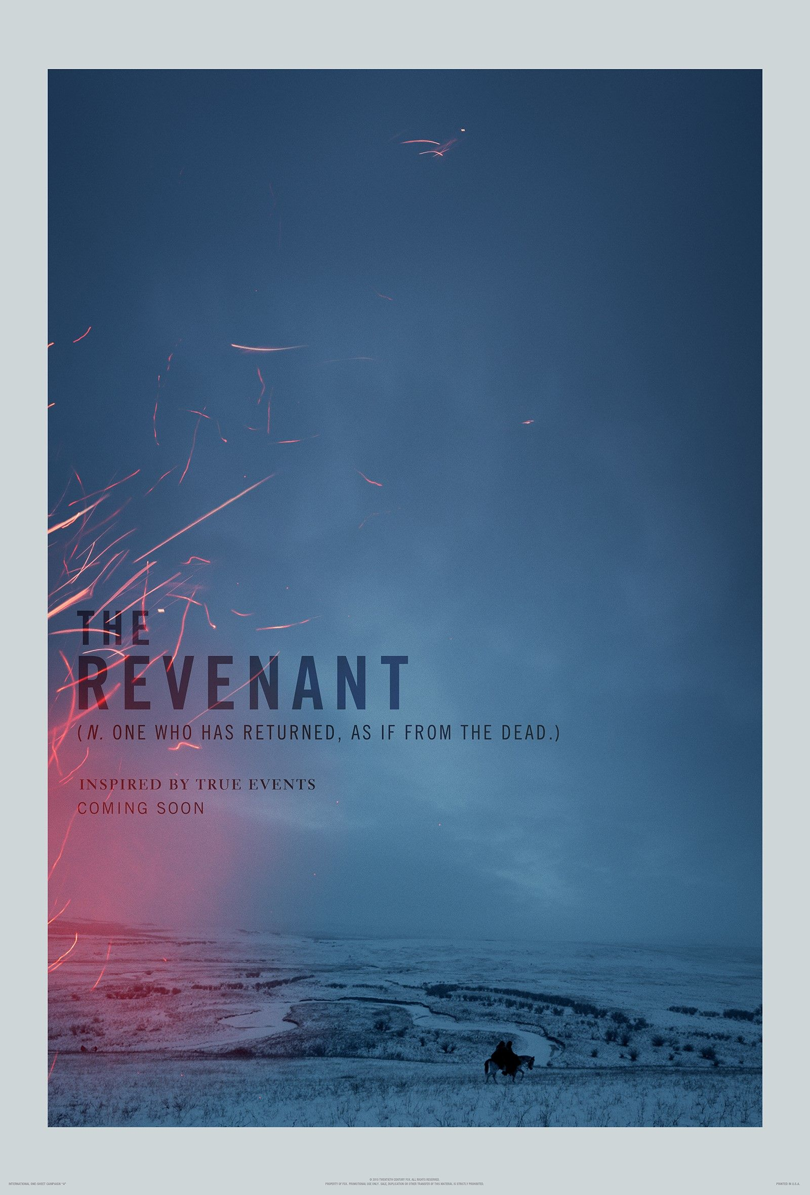 The Revenant Teaser One Sheet